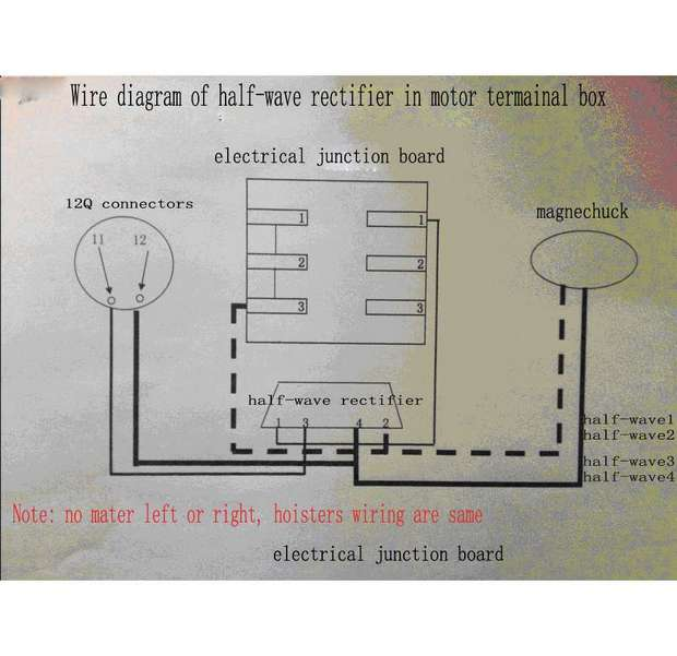 wiring for half-wave rectifier | on